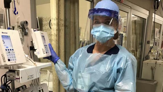 New York Knicks Dancer on Working on Coronavirus Frontlines as a Nurse